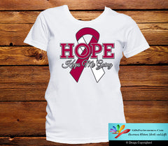 Head and Neck Cancer Hope Keeps Me Going Shirts - GiftsForAwareness