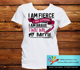 Head Neck Cancer I Am Fierce Strong and Brave Shirts - GiftsForAwareness