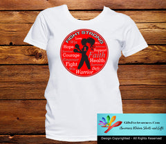 Heart Disease Fight Strong Motto T-Shirts - GiftsForAwareness