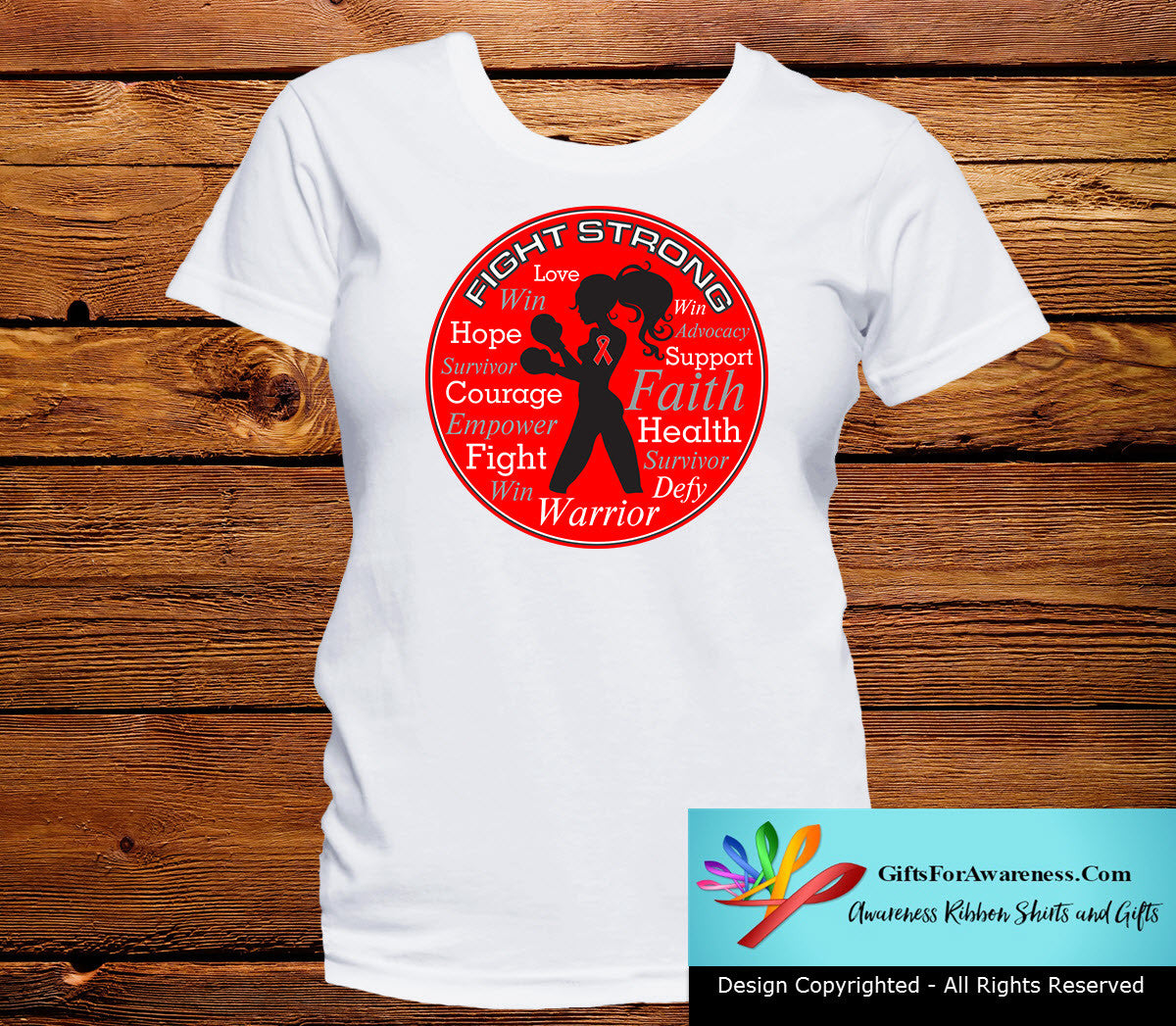 Hemophilia Fight Strong Motto T-Shirts - GiftsForAwareness