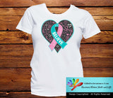 Hereditary Breast Cancer Believe Heart Ribbon Shirts - GiftsForAwareness