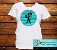 Hereditary Breast Cancer Fight Strong Motto T-Shirts - GiftsForAwareness