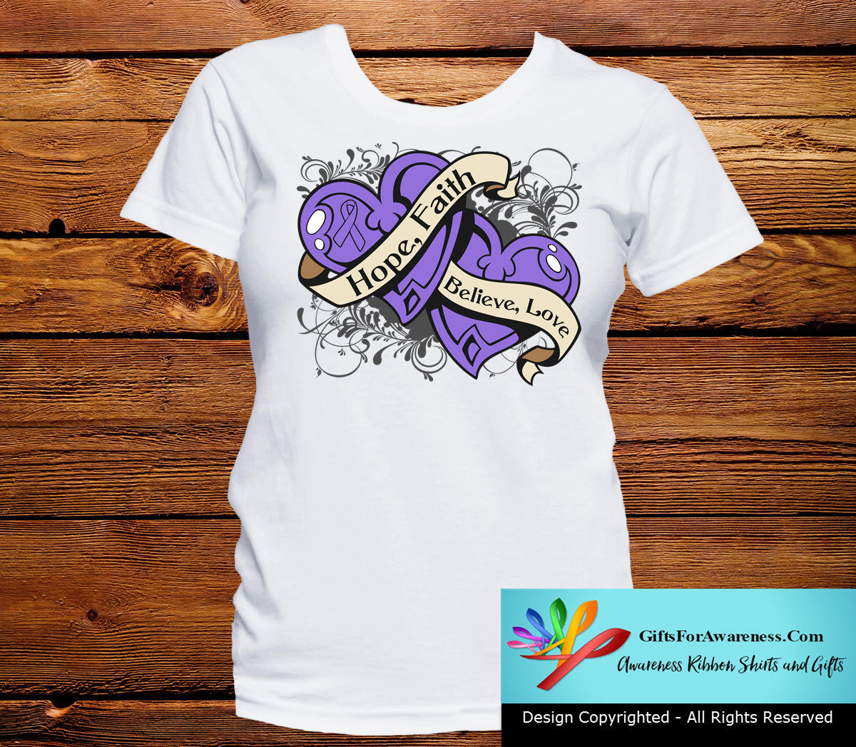 Hodgkin's Lymphoma Hope Believe Faith Love Shirts - GiftsForAwareness