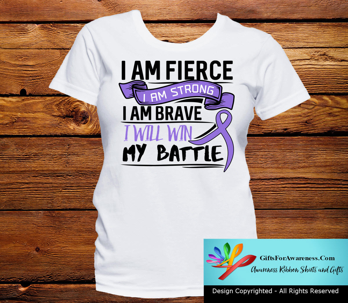 Hodgkins Lymphoma I Am Fierce Strong and Brave Shirts - GiftsForAwareness
