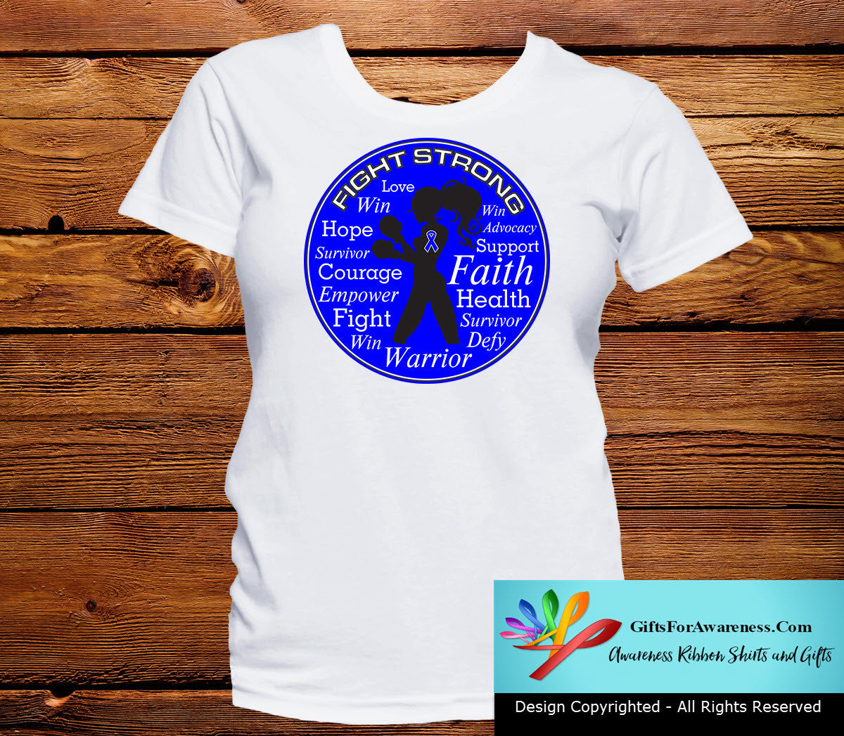 Huntington's Disease Fight Strong Motto T-Shirts - GiftsForAwareness