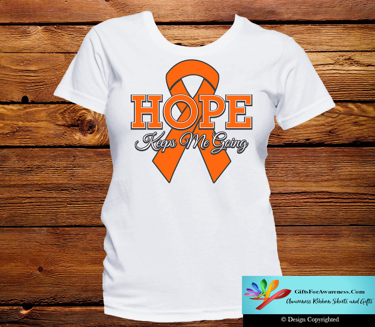 Kidney Cancer Hope Keeps Me Going Shirts - GiftsForAwareness