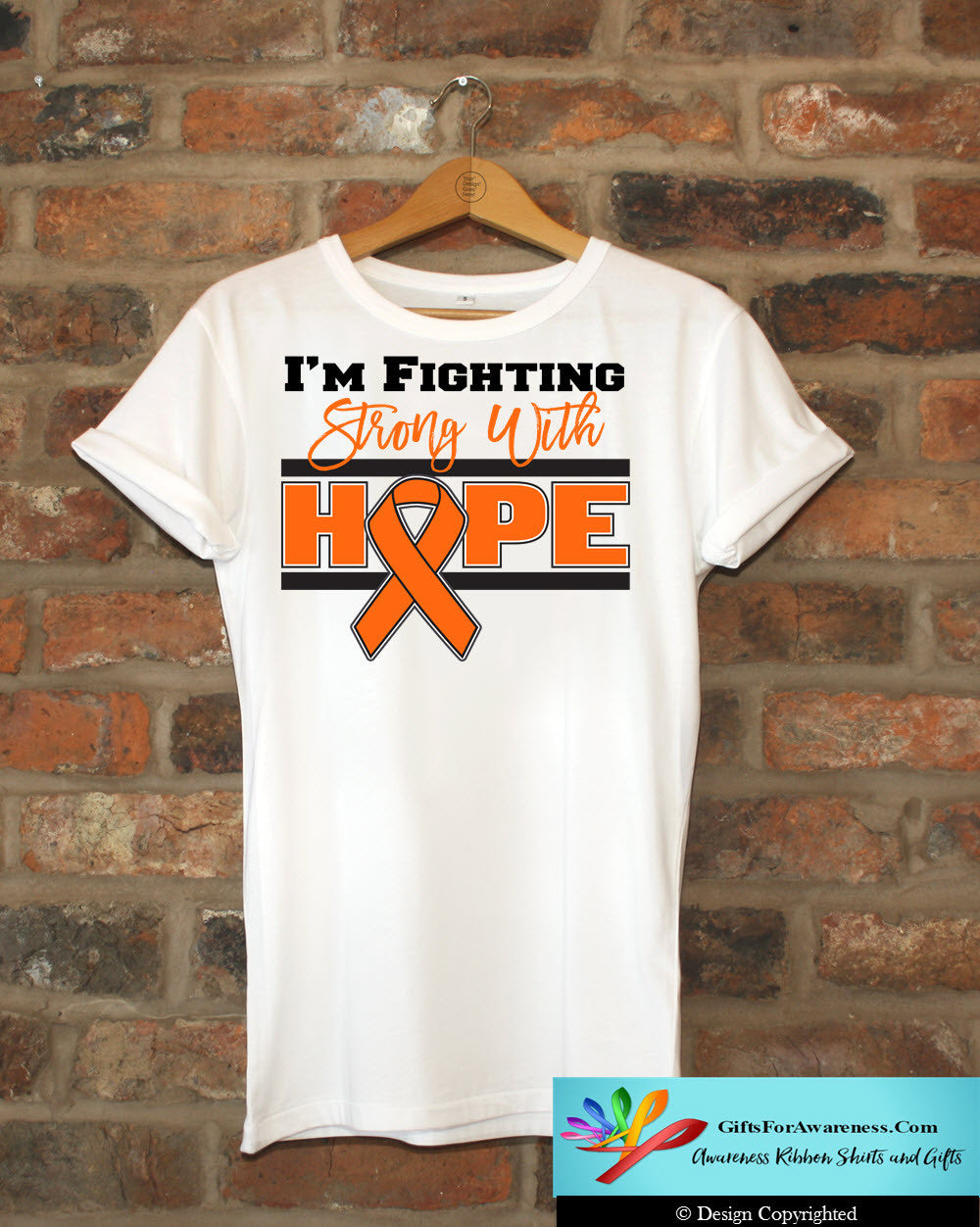 Kidney Cancer I'm Fighting Strong With Hope Shirts - GiftsForAwareness