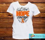 Kidney Cancer Love Hope Courage Shirts - GiftsForAwareness