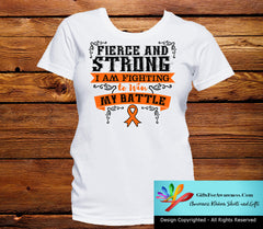 Leukemia Fierce and Strong I'm Fighting to Win My Battle - GiftsForAwareness