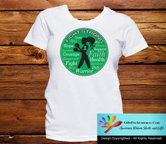 Liver Cancer Fight Strong Motto T-Shirts - GiftsForAwareness