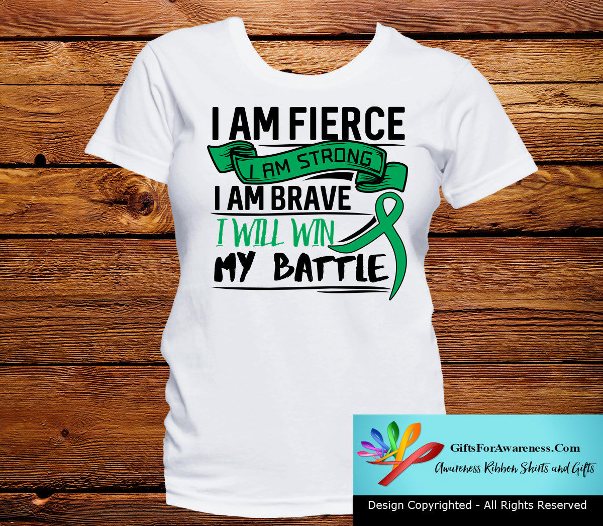 Liver Cancer I Am Fierce Strong and Brave Shirts - GiftsForAwareness