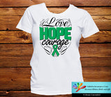 Liver Cancer Love Hope Courage Shirts - GiftsForAwareness