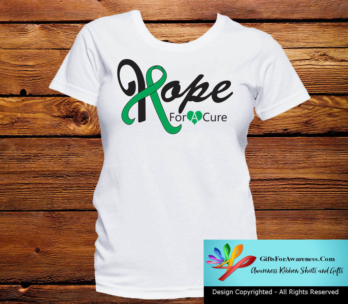 Liver Cancer Hope For A Cure Shirts - GiftsForAwareness