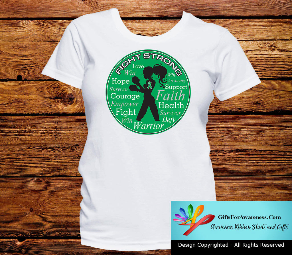 Liver Disease Fight Strong Motto T-Shirts