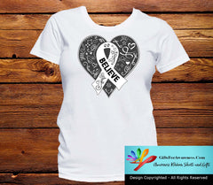 Lung Cancer Believe Heart Ribbon Shirts - GiftsForAwareness