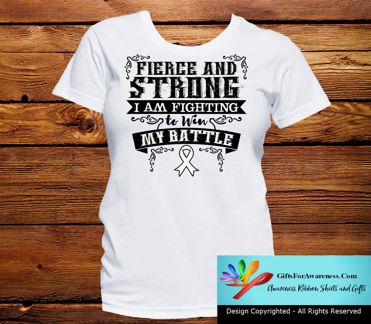 Lung Cancer Fierce and Strong I'm Fighting to Win My Battle - GiftsForAwareness