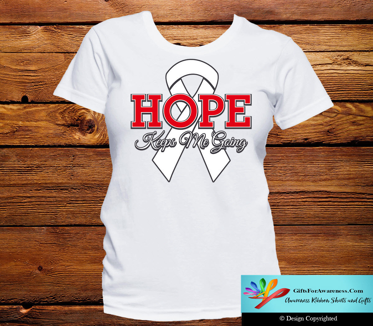 Lung Cancer Hope Keeps Me Going Shirts - GiftsForAwareness