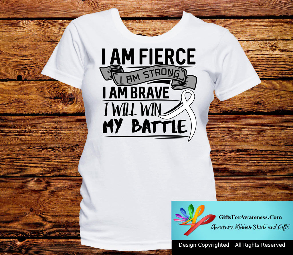 Lung Cancer I Am Fierce Strong and Brave Shirts