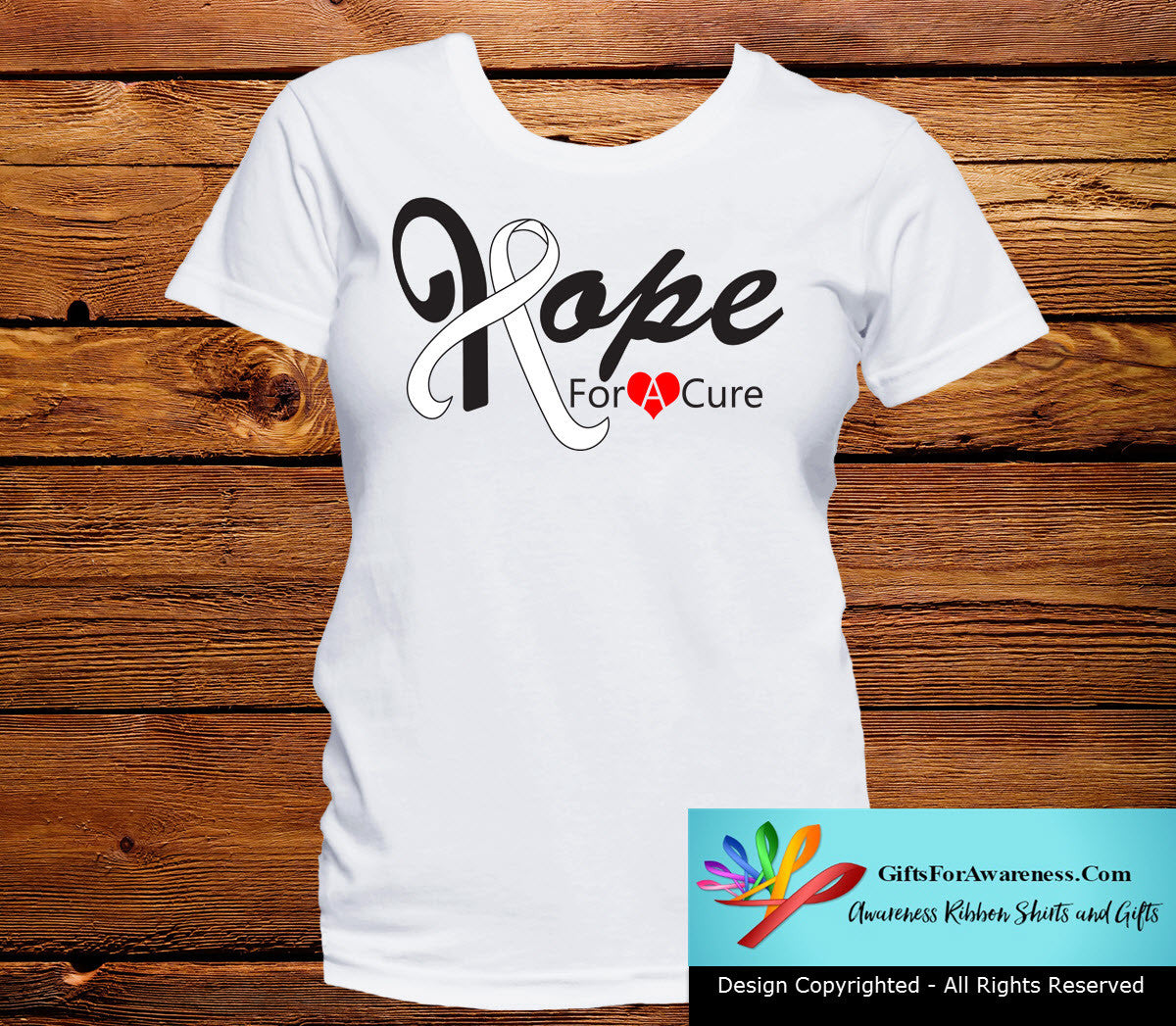 Lung Cancer Hope For A Cure Shirts - GiftsForAwareness
