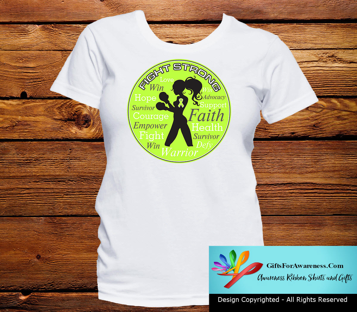 Lymphoma Fight Strong Motto T-Shirts - GiftsForAwareness