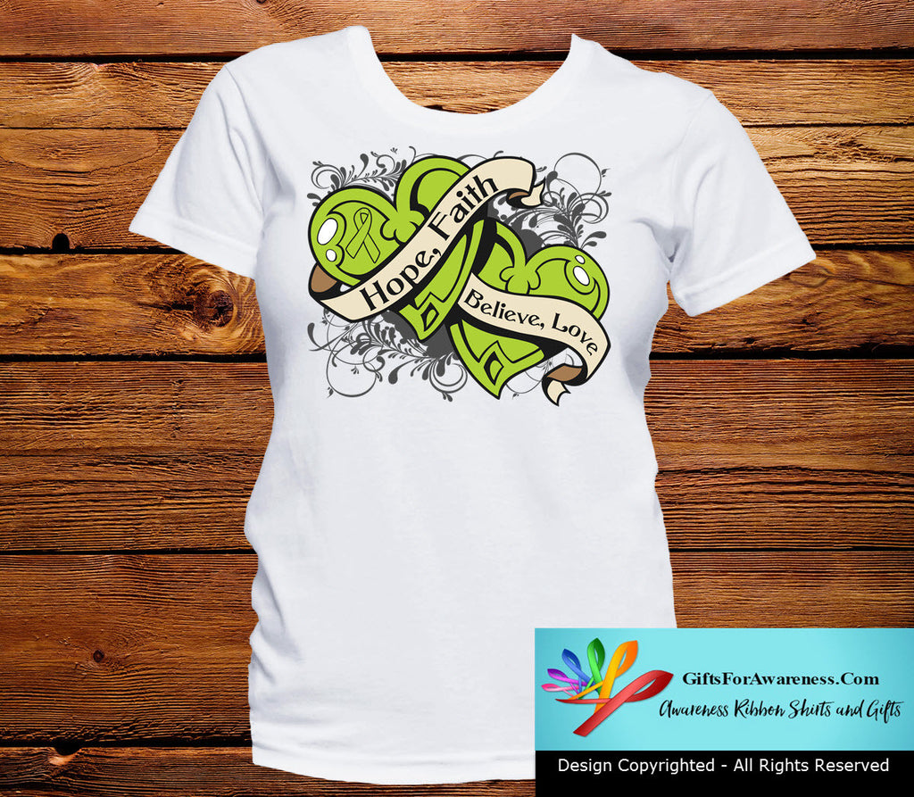 Lymphoma Hope Believe Faith Love Shirts