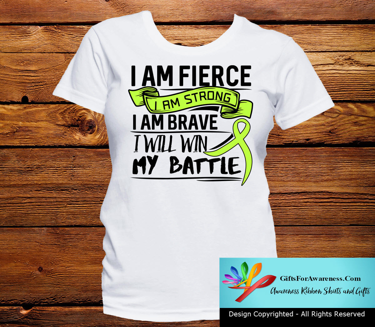 Lymphoma I Am Fierce Strong and Brave - GiftsForAwareness