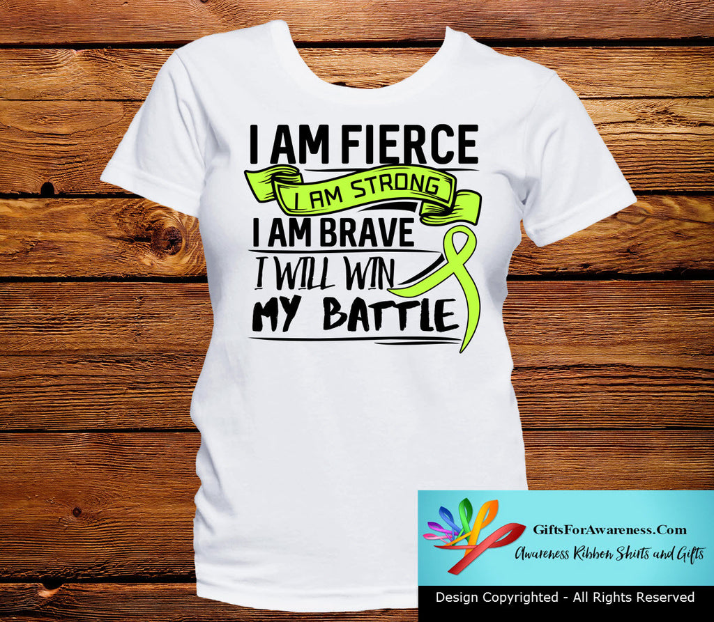 Lymphoma I Am Fierce Strong and Brave Shirts