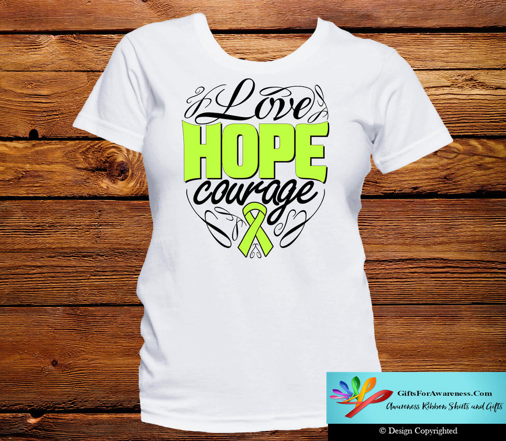 Lymphoma Love Hope Courage Shirts