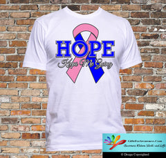 Male Breast Cancer Hope Keeps Me Going Shirts