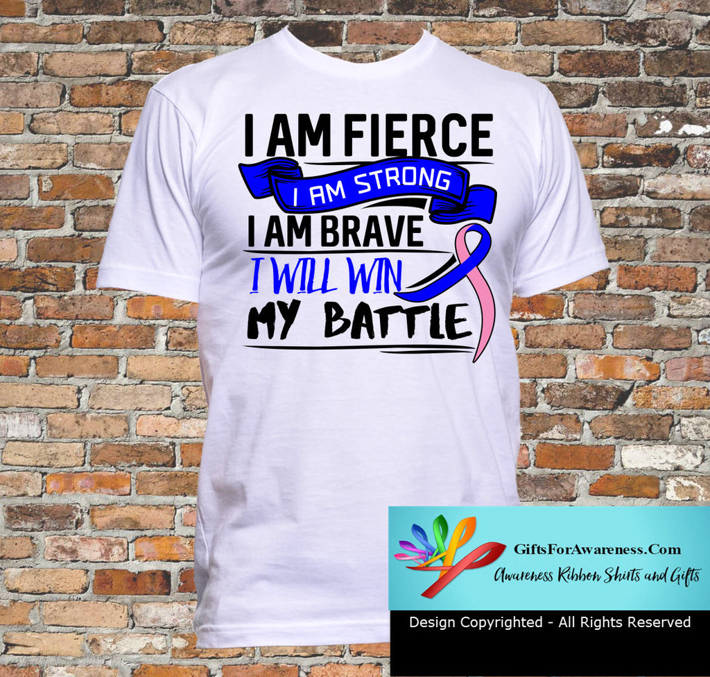 Male Breast Cancer I Am Fierce Strong and Brave Shirts