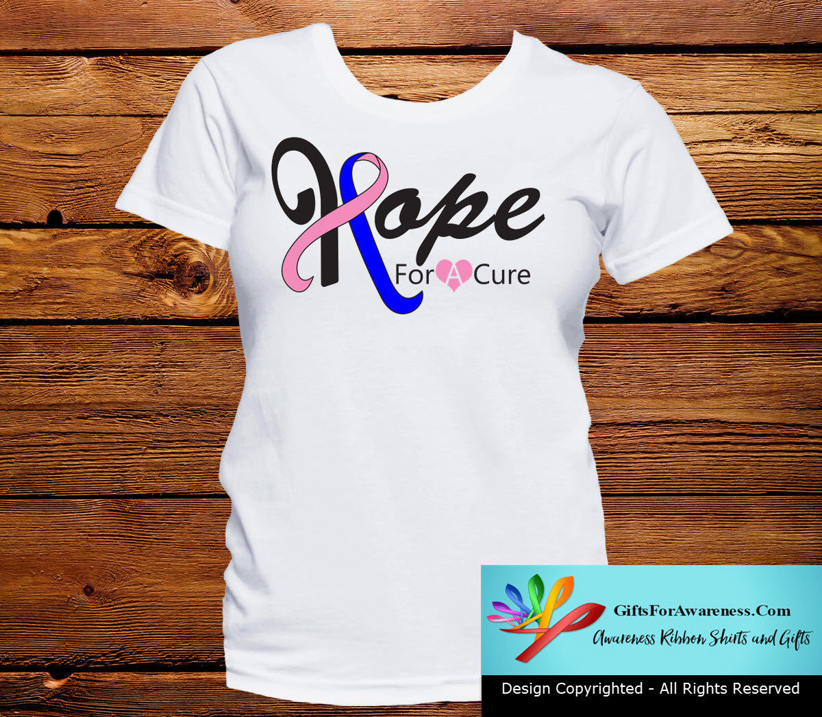 Male Breast Cancer Hope For A Cure Shirts - GiftsForAwareness
