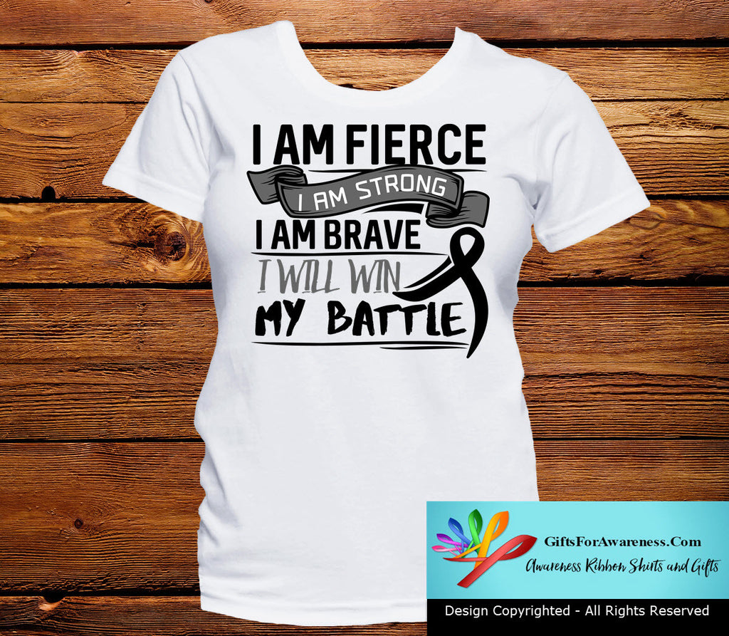 Melanoma I Am Fierce Strong and Brave Shirts