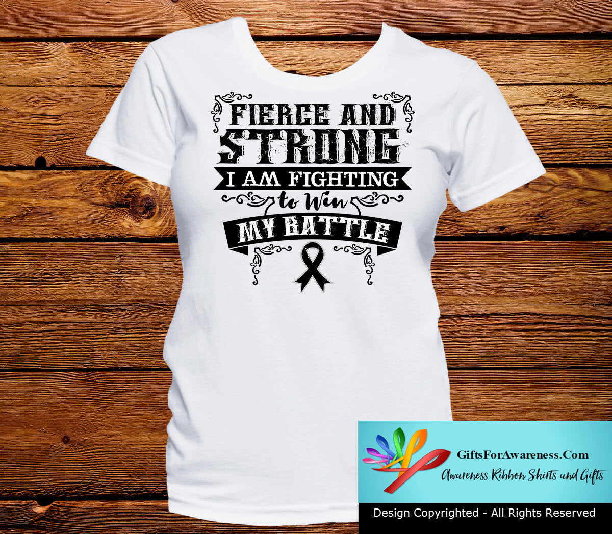 Melanoma Fierce and Strong I'm Fighting to Win My Battle - GiftsForAwareness