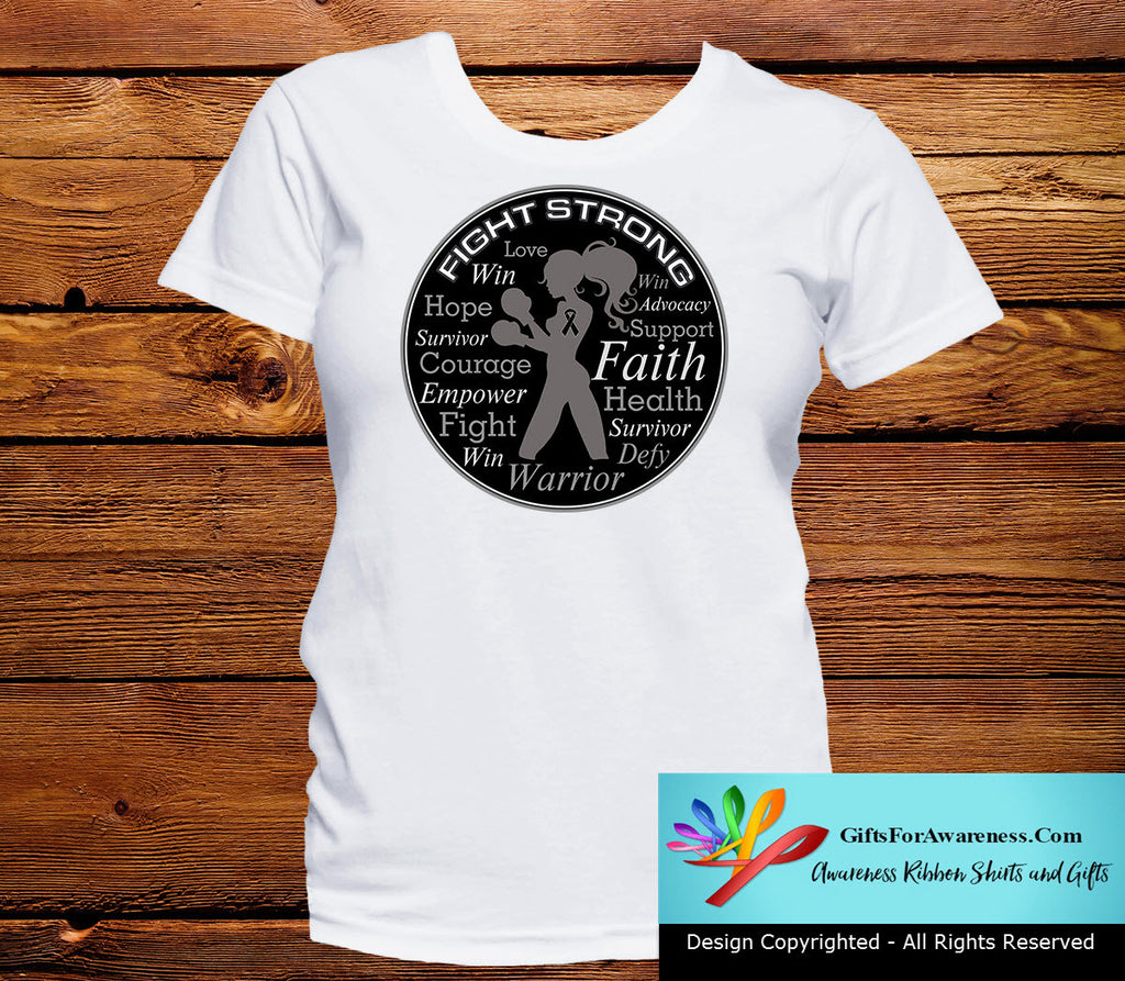 Melanoma Fight Strong Motto T-Shirts