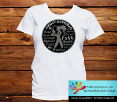 Melanoma Fight Strong Motto T-Shirts - GiftsForAwareness