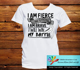 Mesothelioma I Am Fierce Strong and Brave Shirts - GiftsForAwareness