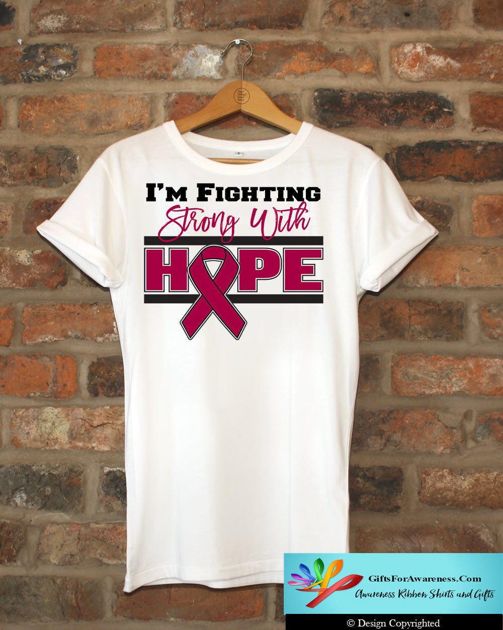 Multiple Myeloma I'm Fighting Strong With Hope Shirts - GiftsForAwareness