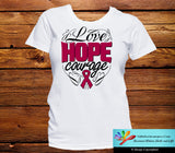 Multiple Myeloma Love Hope Courage Shirts - GiftsForAwareness