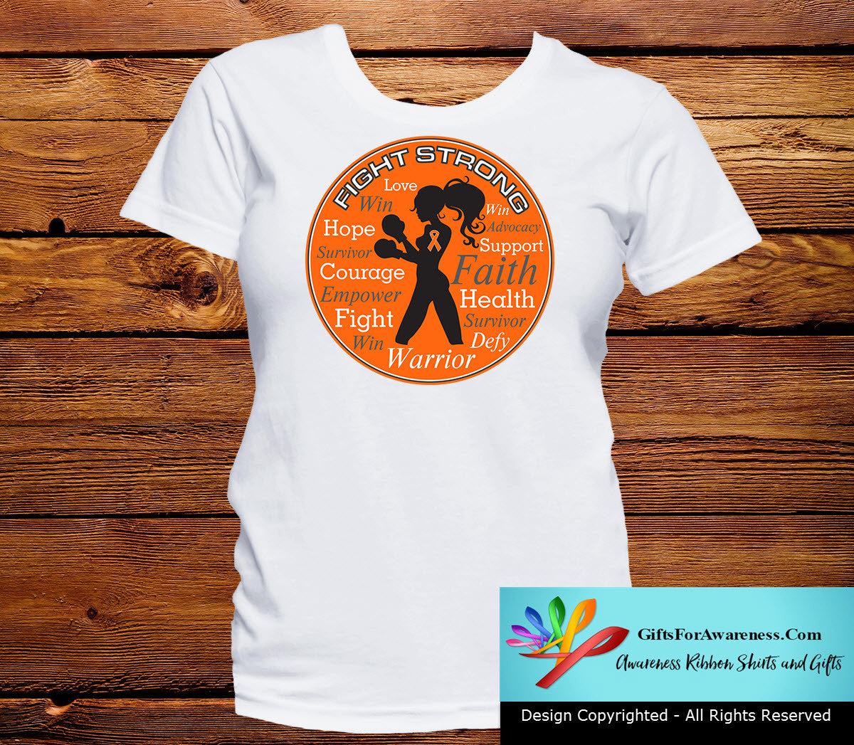 Multiple Sclerosis Fight Strong Motto T-Shirts - GiftsForAwareness