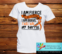 Multiple Sclerosis I Am Fierce Strong and Brave Shirts - GiftsForAwareness