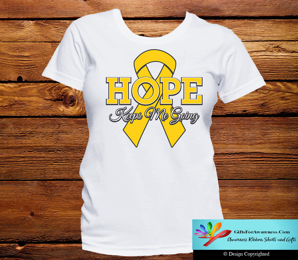 Neuroblastoma Hope Keeps Me Going Shirts - GiftsForAwareness