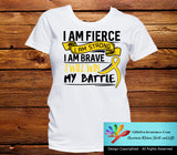 Neuroblastoma I Am Fierce Strong and Brave Shirts - GiftsForAwareness
