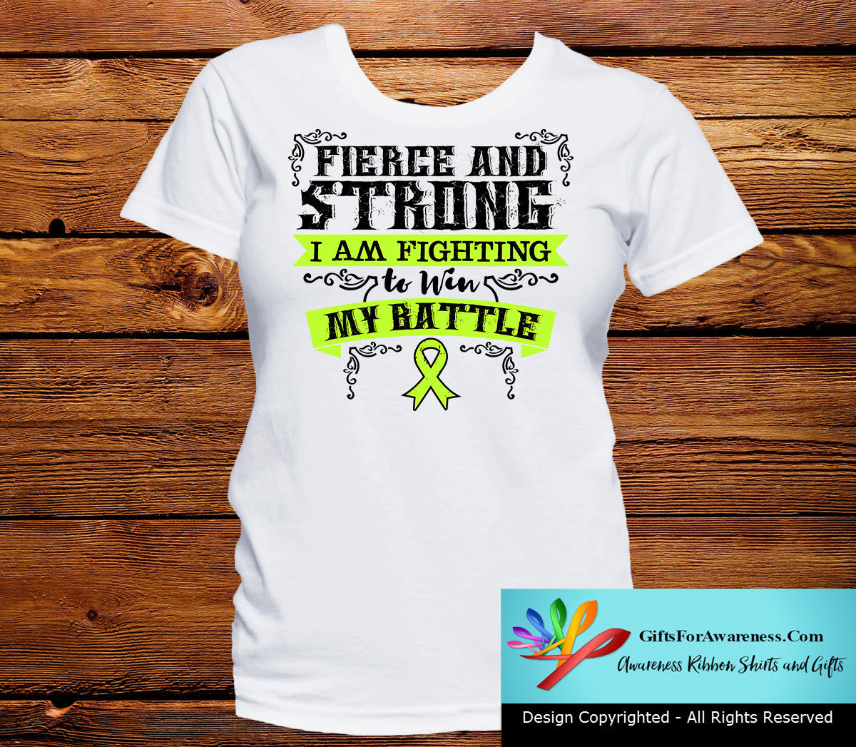 Non-Hodgkins Lymphoma Fierce and Strong I'm Fighting to Win My Battle - GiftsForAwareness