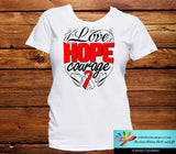 Oral Cancer Love Hope Courage Shirts