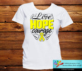 Osteosarcoma Love Hope Courage Shirts - GiftsForAwareness