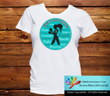 Ovarian Cancer Fight Strong Motto T-Shirts - GiftsForAwareness