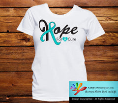Ovarian Cancer Hope For A Cure Shirts - GiftsForAwareness