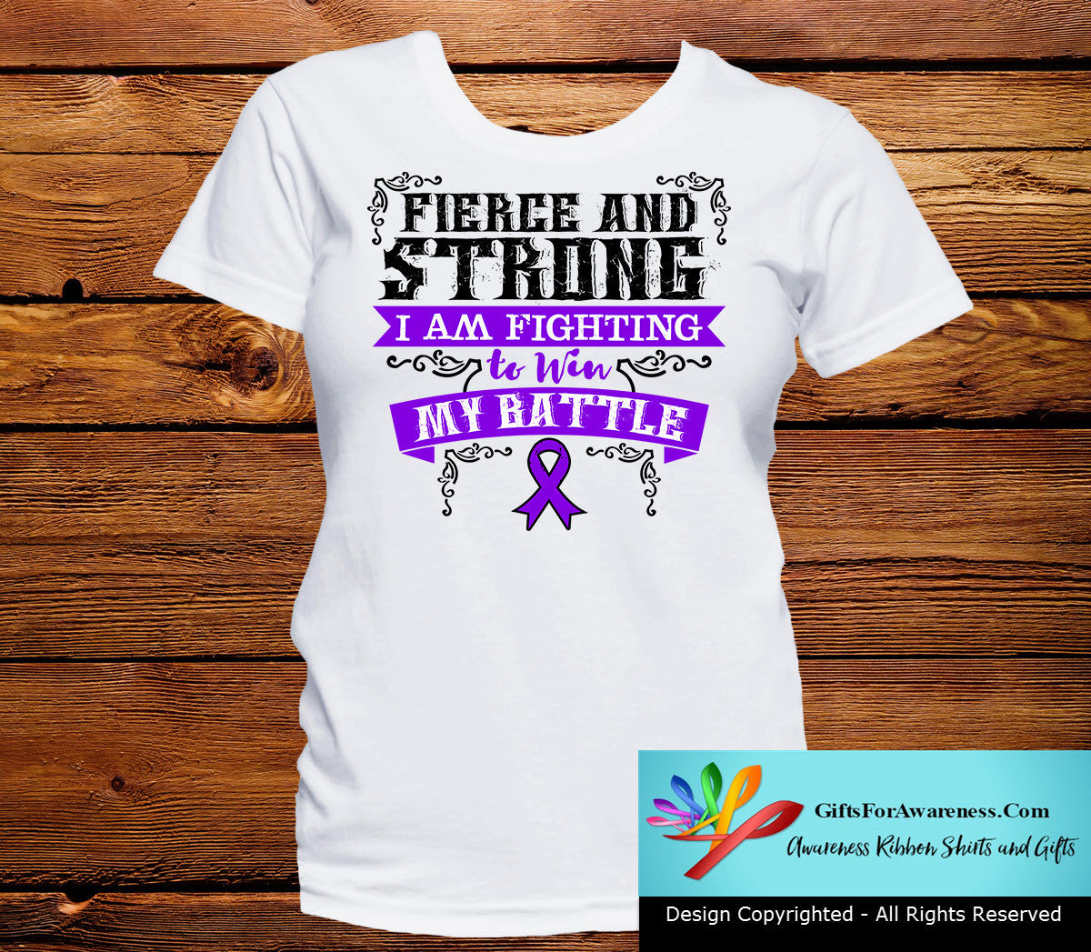 Pancreatic Cancer Fierce and Strong I'm Fighting to Win My Battle - GiftsForAwareness