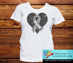 Parkinson's Disease Believe Heart Ribbon Shirts - GiftsForAwareness