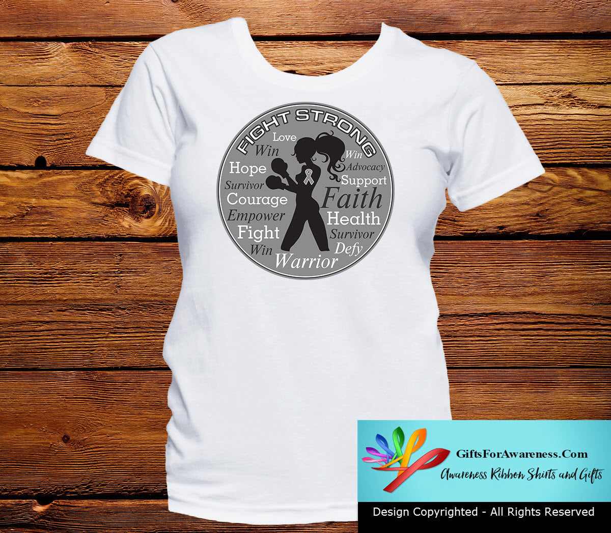 Parkinson's Disease Fight Strong Motto T-Shirts - GiftsForAwareness
